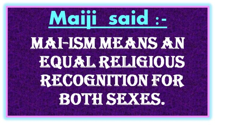 Woman is more inclined towards morality and religion and is nearer God thanman
