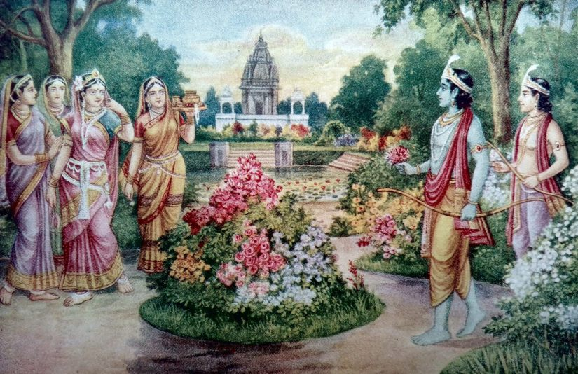 Rama and Sita catch sight of each other