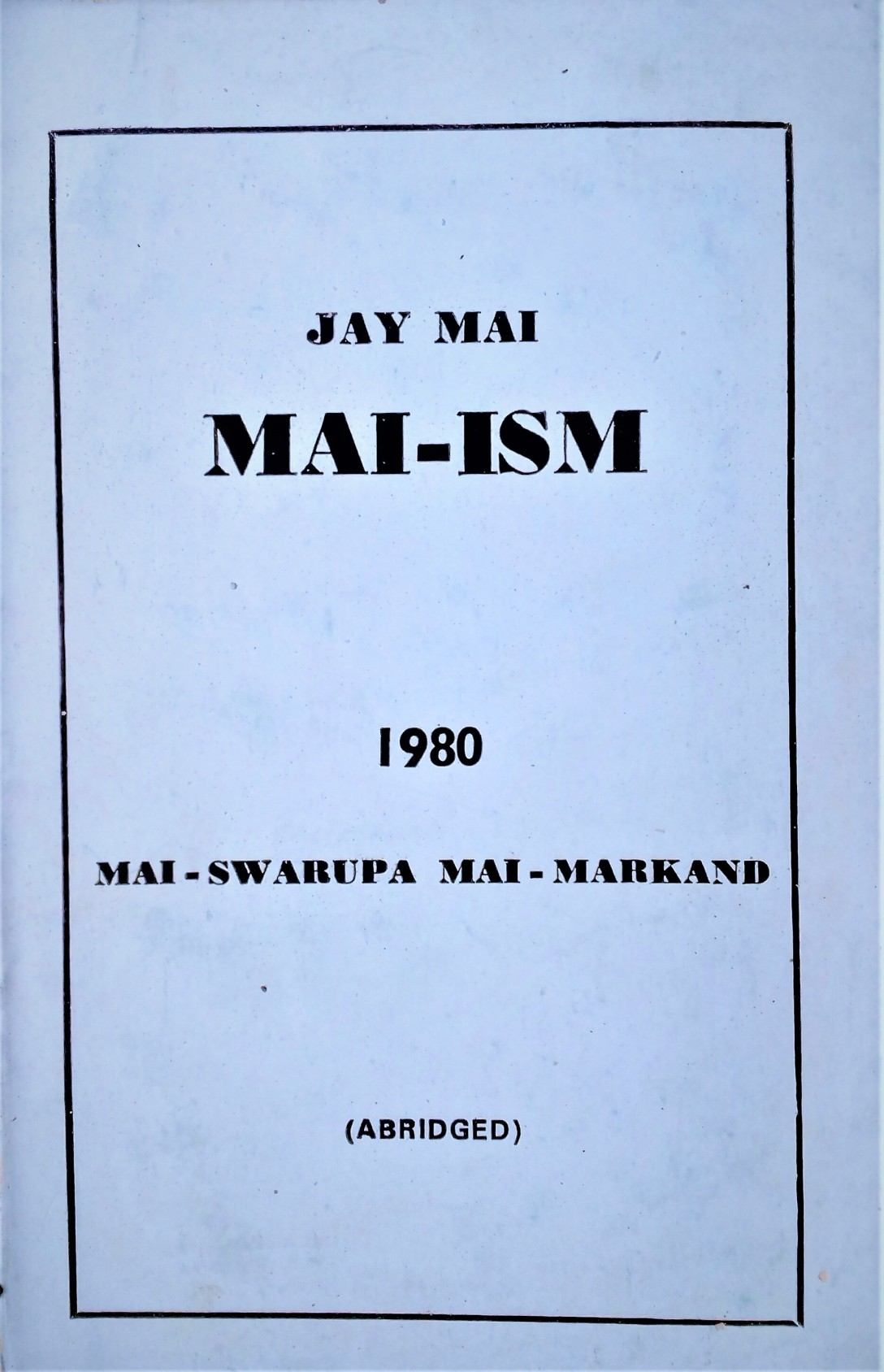 Abridged Maiism book
